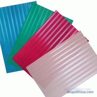 Plastic for the roof - types, prices and photos