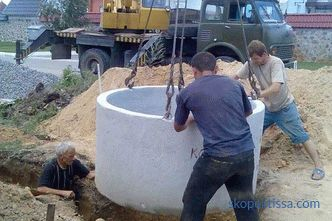 Septic tank of concrete rings: scheme, device, installation steps