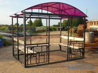Buy a cheap metal gazebo to give: what can you save on