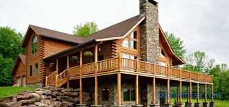 How to build a house from a rounded log, a house from a log house, construction technology