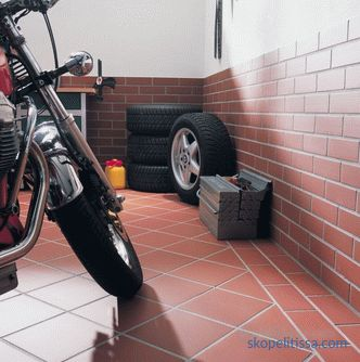 Floor covering in the garage: types, characteristics, ways of laying