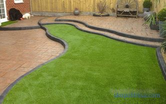 Sports lawn - technology laying on the plot