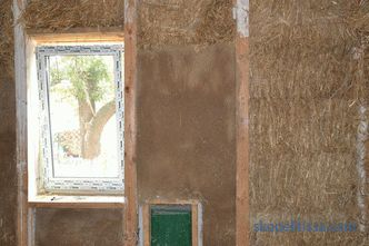 Plastering of wooden walls inside and outside the house, like plastering, technology, photo