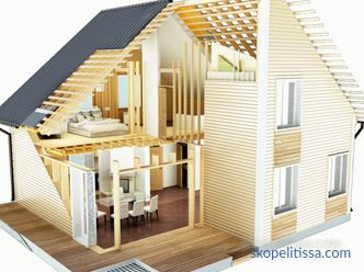 Frame house 6 to 6 with an attic, the advantages and order of construction of the project