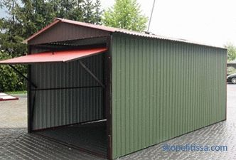 Shed from a professional sheet - construction technology + video