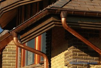 price for the material, what to buy gutters for the metal roof in Moscow