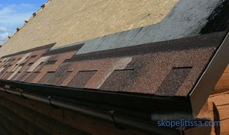 Wind strip for a soft roof and other components and additional elements