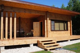house-bath with a veranda or terrace in the size of 6x6 and 6x8, options from timber and logs 6 to 4 and 5 to 8, photos, video