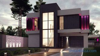 Construction of houses in the style of turnkey high-tech: ready projects