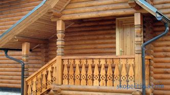 Porch of a wooden country house do it yourself: ideas and photos