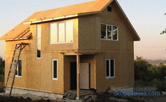 options for finishing the facade of a frame house with examples in the photo and video