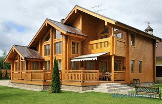Houses from a turnkey glued timber in Moscow: projects, prices, photos
