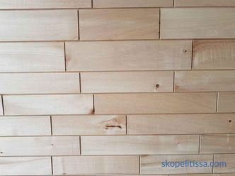 Wall paneling clapboard in a wooden house, how to sheathe the house inside, photo