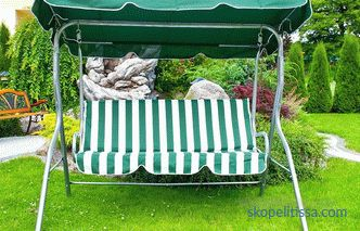 Four-seater garden swings, how to use a garden swing, buy a four-seater swing