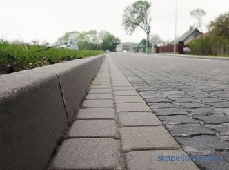 Curbstone: prices and sizes
