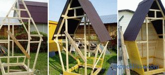 Wooden toilet to give, views, how to build, schemes, photos
