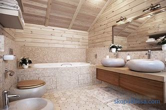 Shower in a wooden house: materials, technology, requirements
