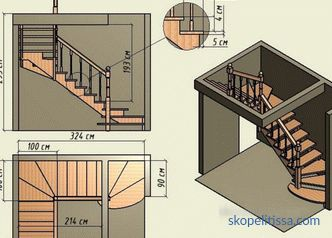 Stairs in a private house to the second floor: the best design projects