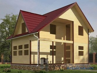 Houses made of profiled timber log cabins for shrinkage without finishing cheaply, projects and prices for construction in Moscow
