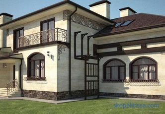 facade and interior, styles, materials, rooms