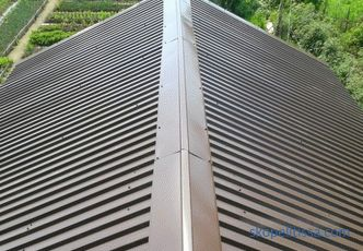 The minimum slope of the roof of the sheet