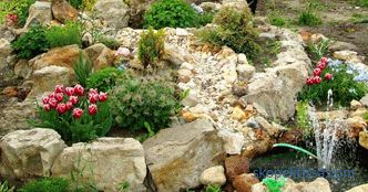 Stones for an alpine slide: the basic principles of the right choice
