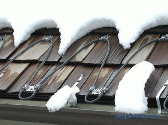 selection of heating cable and installation of roof anti-icing system
