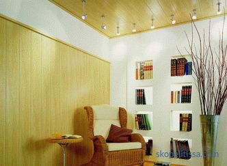 Interior decoration of a wooden house in a modern style: communications, wall decoration