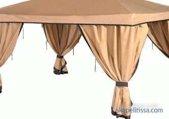 Buy awning for gazebo 3x3, walls for tents, thick curtains and mosquito nets