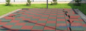 Rubber coverings for garden paths - catalog, prices, photos, specifications