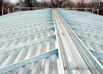 Metal rafters: the main structural elements