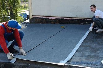 Waterproofing flat roof, operated roof, technology, materials, installation