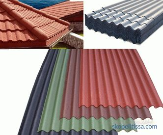Roofing materials for the roof: types and prices of coatings