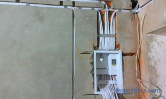 Electrical wiring in the garage: the rules of the installation process