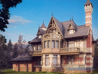 Design and styles of the facade of a country house: examples with photos