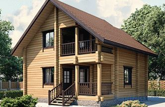 Construction of houses from turnkey glued timber in Moscow: projects and prices
