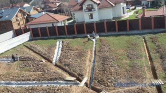 Garden drainage: types and construction technology
