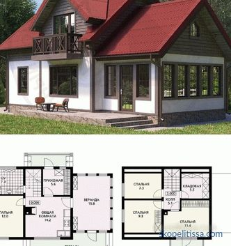 Projects of houses and cottages up to 120 m2 turnkey, one-story, two-story, prices for construction in Moscow