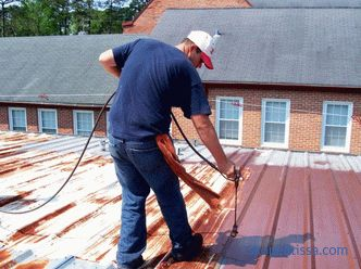 rubber paint for galvanized and metal surfaces, metal roofing products, options for working in rust