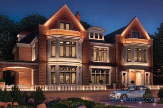 Facade lighting of a country house, lighting the facade outside, photo ideas