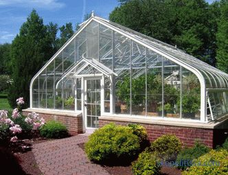 technology of construction of glass greenhouses, step by step instructions, photos