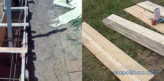 The base under a fence from a professional flooring, tape, installation, the choice of material, a photo