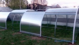Polycarbonate greenhouse with opening roof, sliding roof greenhouse, sliding greenhouse
