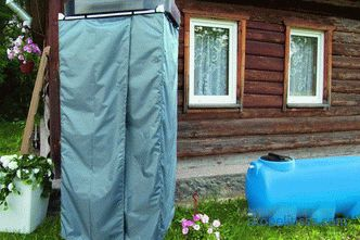 Buy a plastic shower tank with heated, summer shower for garden: price in Moscow