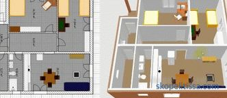 The project of the house 8x10 with an excellent layout, the plan of a two-story house 10 on 10
