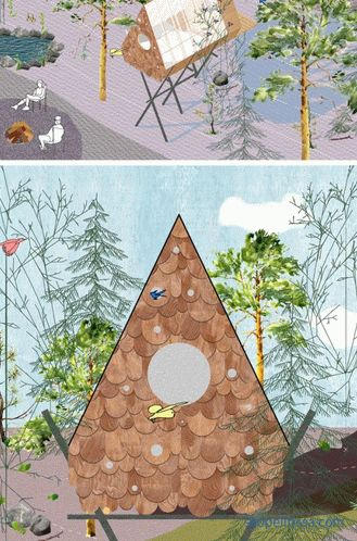 Birdhouse in a Canadian forest - accommodates two people and 12 birds