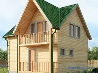 Turnkey two-storey baths from a bar, bath projects in 2 floors, prices