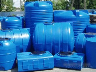Plastic accumulative tanks for sewage systems, septic tanks for summer cottages and country houses, the choice and installation