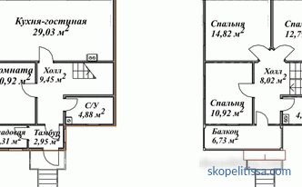 Projects of inexpensive country houses of economy class: planning, construction in Moscow